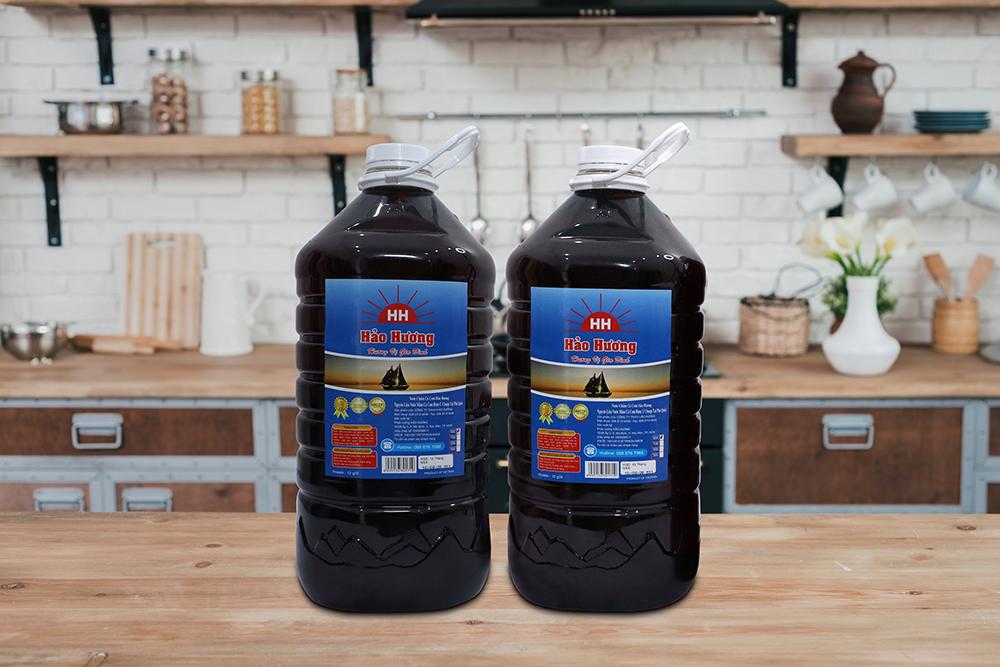 Nước chấm cá cơm Hảo Hương bình 5L-  Protein 12g/l - Nhãn xanh